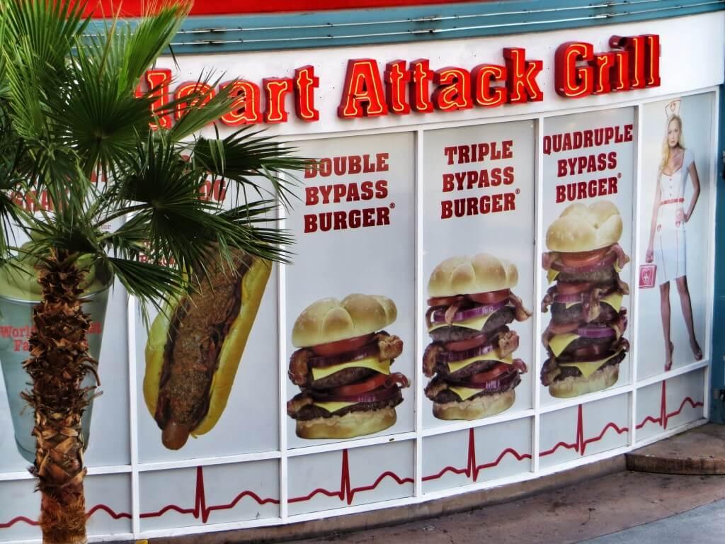Heart Attack Grill. Yli 160-kiloiset syövät ilmaiseksi.