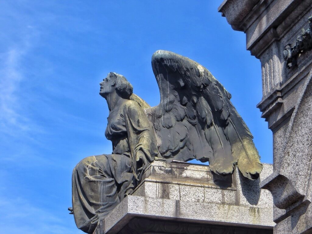 Evita Peroninkin hauta (ei kuvassa) löytyi myös Recoletasta kun seurasimme turistimassoja.